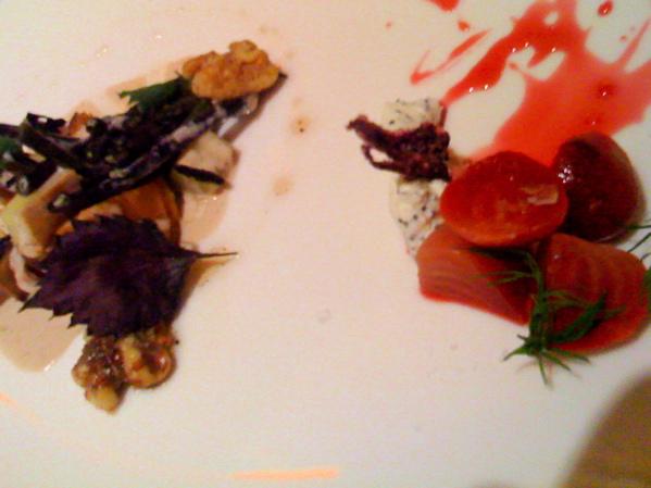Ciogga beets and perilla with summer veggies