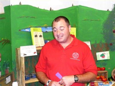 Brian teaching kids at County Fair