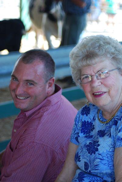 Brian with grandma burd