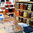 Farmers market preserves and savories