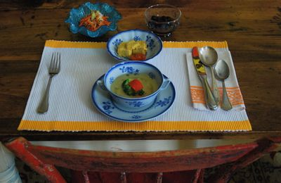 Close up of meal at table