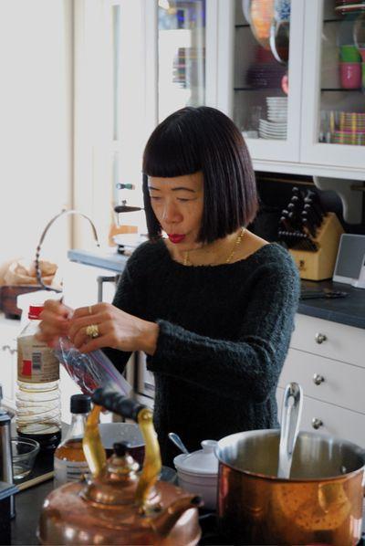 Hiroko cooking