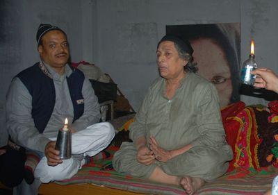 Zaheer Khan holding oil lamp