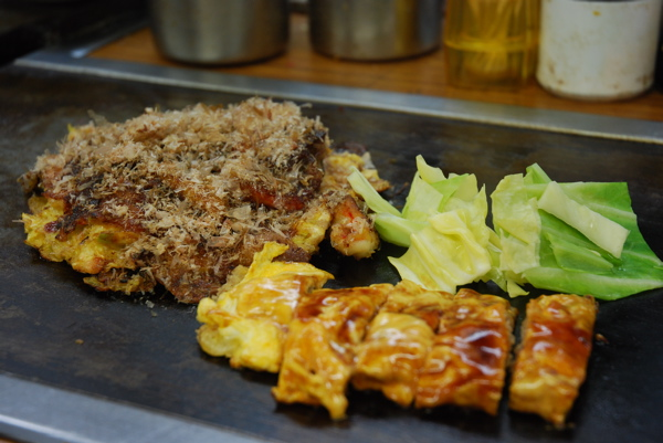 Okonomiyaki and tempei yaki at each setting
