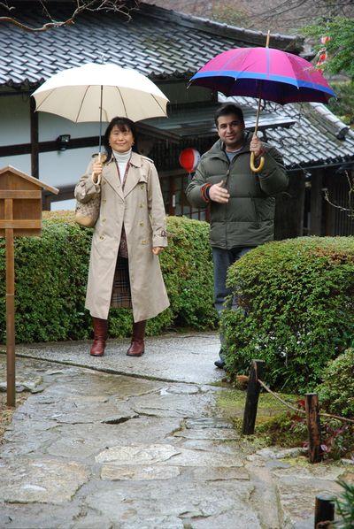 Noriko yagi and me arriving at home for priests