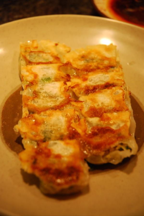 Tofu dumplings vertical