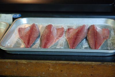 Tuna - salted and being cured