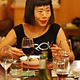 Hiroko enjoying the 4th course