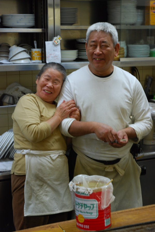 Chefs sharing a laugh