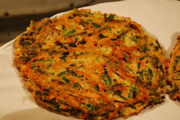 Korean Okonomiyaki closeup