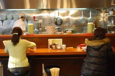 Kitchen counter into kitchen view