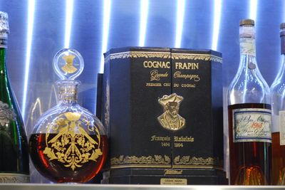 Cognac on the counter