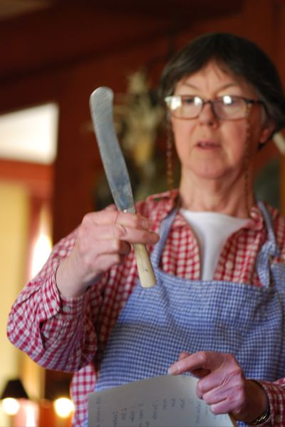 Sally showing old knife