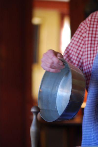 Sally showing pan