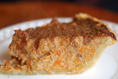 Carrot pie slice