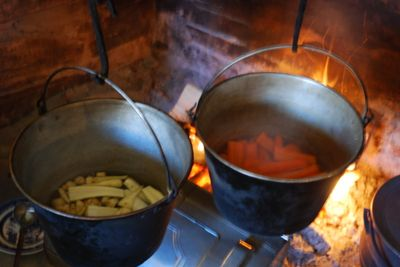 Carrots and turnips cooking