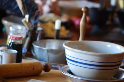 Bowl and rolling pin