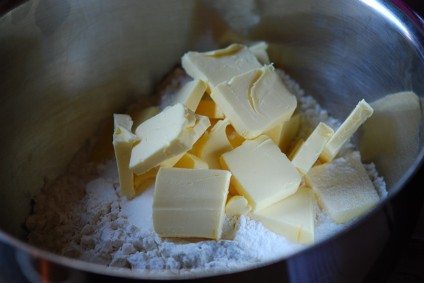 Butter on flour