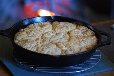 Biscuits coming out of hearth