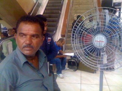Khaitan fan and man