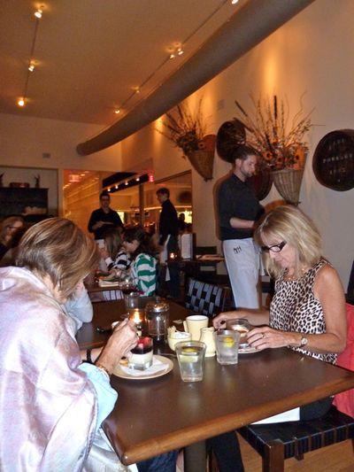 Ladies enjoying desserts