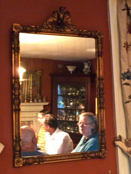 Susie in mirror reflection