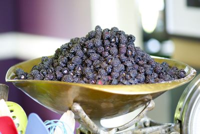 Second batch of black raspberries being weighed