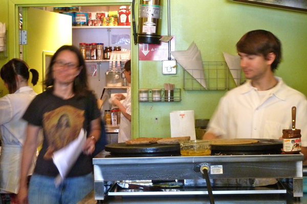 Lauren and cooks blurry