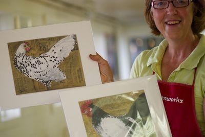 Leah McCloskey Prints with Meg