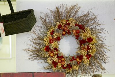 Wreath and basket