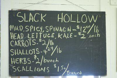 Slack hollow farm sign