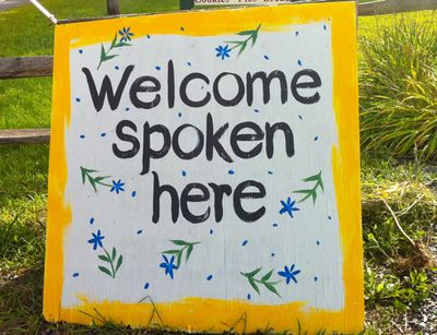 Welcome spoken here