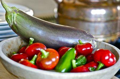 Eggplant and hot pepper