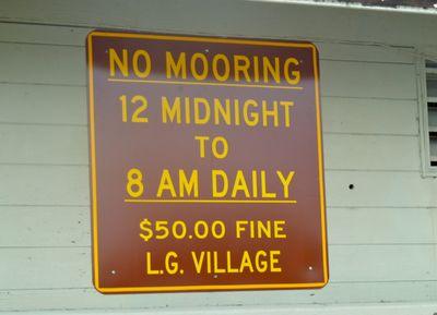 No mooning
