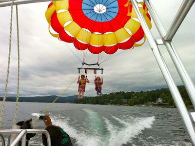 Mattie and me parasailing