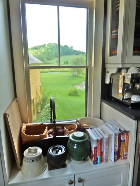 Kitchen window and storage