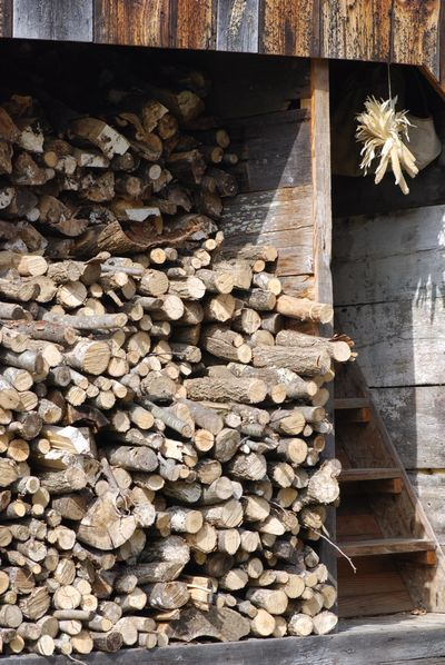 Wood for hearth