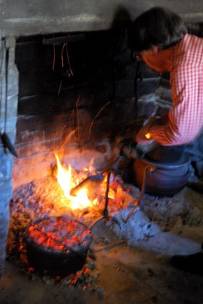 Dutch oven going