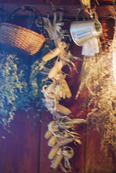 Dried corn and herbs