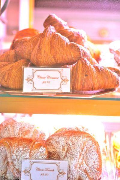 Croissant and cheese danish