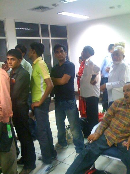Men on line