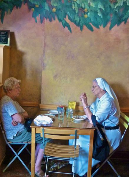Nun and partner