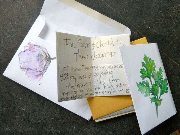 Note and envelopes