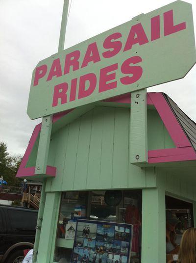 Parasail rides