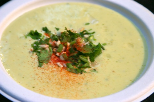 Mango soup yogurt chiles cilantro