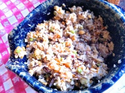 Rice salad top