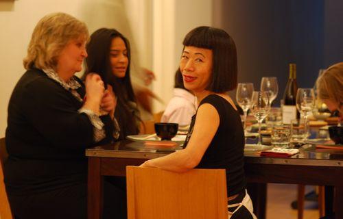 Hiroko at the table